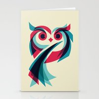owl Stationery Cards featuring Owl by Jay Fleck