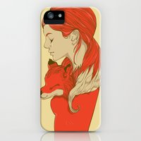 iPhone 5s & iPhone 5 Cases featuring Lady Fox by Huebucket