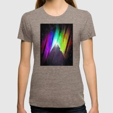 The Cosmic Pyramid Womens Fitted Tee Tri-Coffee SMALL