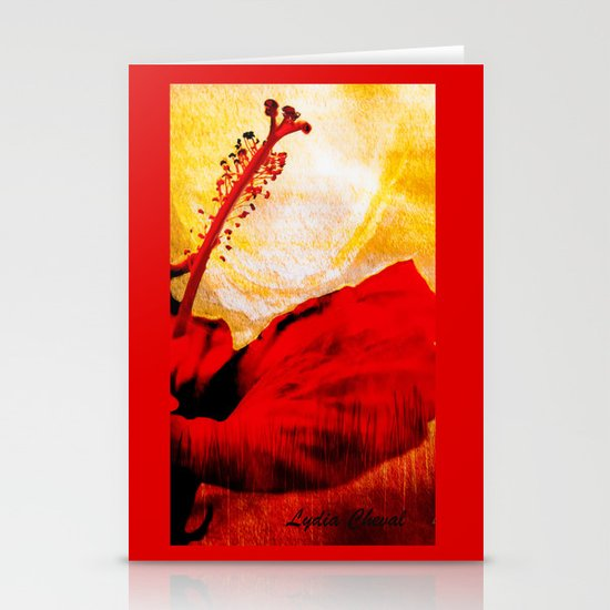 japanese sunset Stationery Card