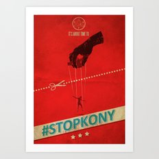 #KONY2012 And #StopKony Campaign Art Print