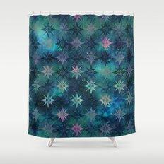 Bohemian Night Skye - Green Shower Curtain