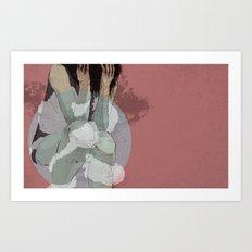 Lady Lost Art Print