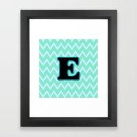 Letter E Framed Art Print