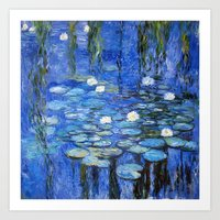Water Lilies A La Monet Art Print