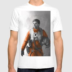 Poe Dameron Mens Fitted Tee White SMALL