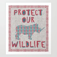 Protect Our Wildlife 23 Art Print