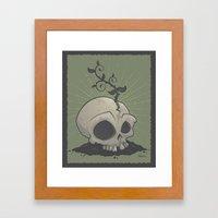 Skull Garden Framed Art Print