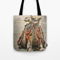Camel At Giza Tote Bag