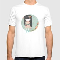 Sad Girl Mens Fitted Tee White SMALL