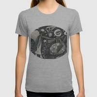 Night Secrets Womens Fitted Tee Athletic Grey SMALL