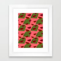 retro lips (2) Framed Art Print
