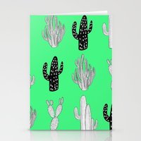 Fluo Cacti Pattern Stationery Cards