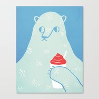 Polar Beverage Canvas Print