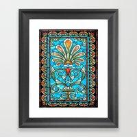 CRYPT GLASS Framed Art Print