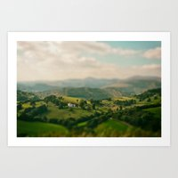 Valley Tilt Shift Art Print