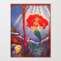 Canvas Print featuring The Little Mermaid by California English