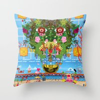 Cabana Fever Throw Pillow