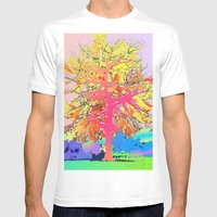 Color Tree Mens Fitted Tee White SMALL