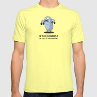 BROS KNOW (basic Cell St… Mens Fitted Tee Lemon SMALL