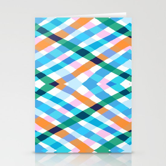 The rustic link based on tenun ikat Stationery Card