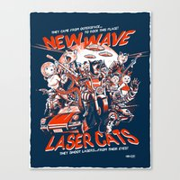 New Wave Laser Cats Canvas Print