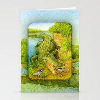 Crocodile Stationery Cards