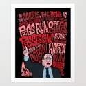 Scalia and The Devil Art Print