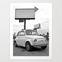 Fiat 500 Forever Art Print