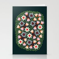 Bed of Flowers Stationery Cards