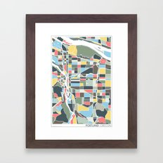 Portland. Framed Art Print