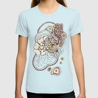Tangled roots Womens Fitted Tee Light Blue SMALL