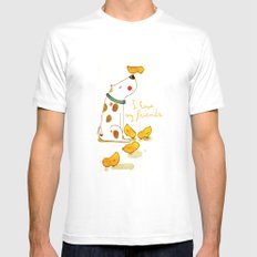 My little friends SMALL White Mens Fitted Tee