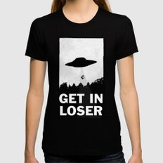 Get In Loser Womens Fitted Tee Black MEDIUM