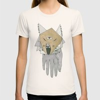 HAND Womens Fitted Tee Natural SMALL