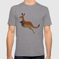 The Kangaroo And The Koa… Mens Fitted Tee Athletic Grey SMALL