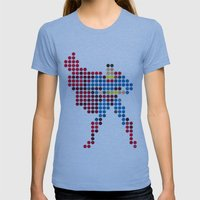 Mr Super Womens Fitted Tee Athletic Blue SMALL