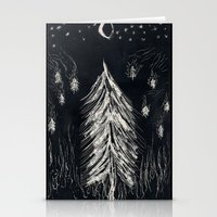 Midnight In A  Burning Forest Stationery Cards