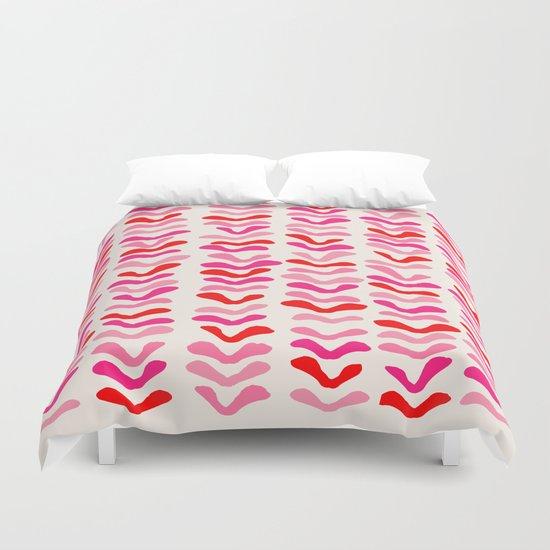 Rhythm Pink Duvet Cover
