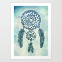 Double Dream Catcher Art Print