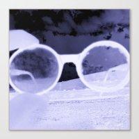 Glasses On The Horizon Canvas Print