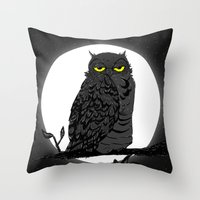 Night Owl V. 2 Throw Pillow