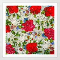 the garden of roses Art Print