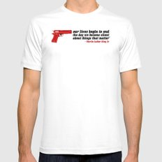 silencer [reloaded] White SMALL Mens Fitted Tee