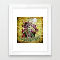vegetal tag Framed Art Print