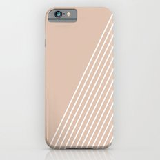 White & Pink Stripes Slim Case iPhone 6s