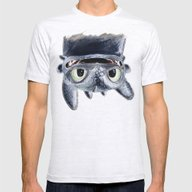 Toothless (Upside Down) Mens Fitted Tee Ash Grey SMALL