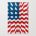 3D Poly Usa Flag Canvas Print