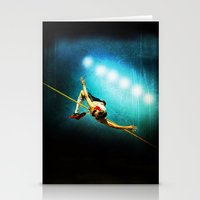 Olympic game jump Stationery Cards