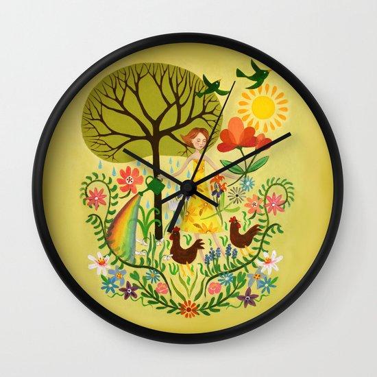Julia's Garden Wall Clock